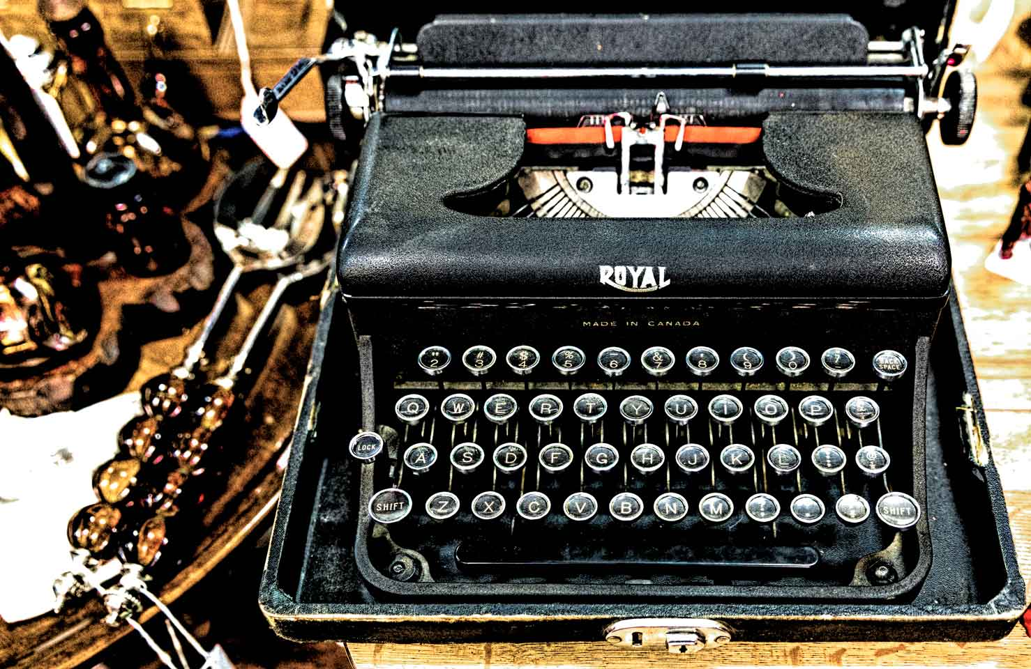 Old typewriter for sale once used for writing